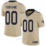 Camiseta NFL Legend New Orleans Saints Personalizada Crema