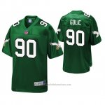 Camiseta NFL Philadelphia Eagles Mike Golic Kelly Verde Pro Line