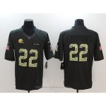Camiseta NFL Anthracite Hombre Cleveland Browns 22 Peppers Negro