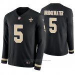 Camiseta NFL Hombre New Orleans Saints Teddy Bridgewater Negro Therma Manga Larga