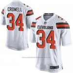 Camiseta Cleveland Browns Crowell Blanco Nike Game NFL Hombre