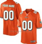Camisetas NFL Limited Hombre Miami Dolphins Personalizada Naranja