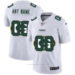 Camiseta NFL Limited Green Bay Packers Personalizada Logo Dual Overlap Blanco