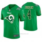 Camiseta NFL Limited Hombre Los Angeles Rams Greg Zuerlein St. Patrick's Day Verde