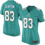 Camiseta Miami Dolphins Clayton Verde Nike Game NFL Mujer