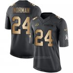 Camiseta Washington Redskins Norman Negro 2016 Nike Gold Anthracite Salute To Service NFL Hombre