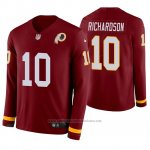 Camiseta NFL Hombre Washington Redskins Paul Richardson Burgundy Therma Manga Larga