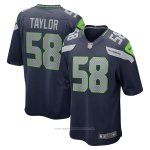 Camiseta NFL Game Seattle Seahawks Darrell Taylor Azul