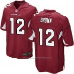 Camiseta Arizona Cardinals Brown Rojo Nike Game NFL Hombre