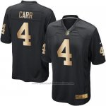 Camiseta Oakland Raiders Carr Negro Nike Gold Game NFL Hombre