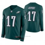 Camiseta NFL Hombre Philadelphia Eagles Alshon Jeffery Verde Therma Manga Larga