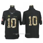 Camiseta NFL Limited Hombre San Francisco 49ers 10 Jimmy Garoppolo Anthracite Salute To Service Negro