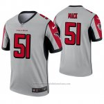 Camiseta NFL Legend Atlanta Falcons 51 Alex Mack Inverted Gris