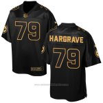 Camiseta Pittsburgh Steelers Hargrave Negro 2016 Nike Elite Pro Line Gold NFL Hombre