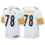 Camiseta NFL Limited Hombre 78 Villanueva Pittsburgh Steelers Blanco
