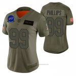 Camiseta NFL Limited Mujer Buffalo Bills Harrison Phillips 2019 Salute To Service Verde