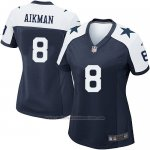 Camiseta Dallas Cowboys Aikman Negro Blanco Nike Game NFL Mujer