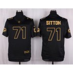 Camiseta Green Bay Packers Sitton Negro Nike Elite Pro Line Gold NFL Hombre