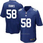 Camiseta New York Giants Banks Azul Nike Game NFL Nino