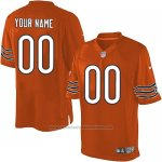 Camisetas NFL Limited Hombre Chicago Bears Personalizada Naranja