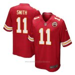 Camiseta NFL Limited Hombre Kansas City Chiefs 11 Alex Smith Rojo Home