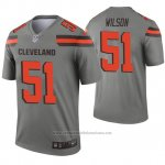 Camiseta NFL Legend Cleveland Marrons 51 Mack Wilson Inverted Gris