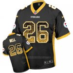 Camiseta NFL Limited Hombre Pittsburgh Steelers 26 Le'veon Bell Negro Stitched Drift Fashion