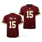 Camiseta NFL Game Nino Washington Redskins Steven Sims Jr. Rojo