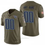 Camiseta NFL Limited Tennessee Titans Personalizada 2017 Salute To Service Verde