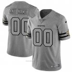 Camiseta NFL Limited New Orleans Saints Personalizada Team Logo Gridiron Gris