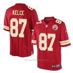 Camiseta NFL Limited Hombre Kansas City Chiefs 87 Travis Kelce Rojo Home