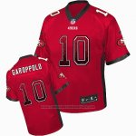 Camiseta NFL Elite Hombre San Francisco 49ers 10 Jimmy Garoppolo Rojo Stitched Drift Fashion