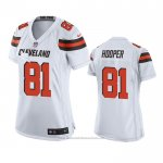 Camiseta NFL Game Mujer Cleveland Browns Austin Hooper Blanco