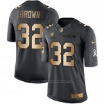 Camiseta Cleveland Browns Brown Negro 2016 Nike Gold Anthracite Salute To Service NFL Hombre