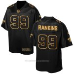 Camiseta New Orleans Saints Rankins 2016 Negro Nike Elite Pro Line Gold NFL Hombre