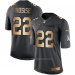 Camiseta Seattle Seahawks Prosise Negro 2016 Nike Gold Anthracite Salute To Service NFL Hombre