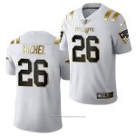 Camiseta NFL Limited New England Patriots Sony Michel Golden Edition 2020 Blanco
