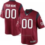 Camisetas NFL Replica Hombre Houston Texans Personalizada Rojo