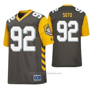 Camiseta NFL Game Hombre AAF San Diego Fleet Shakir Soto Charcoal Football