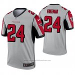 Camiseta NFL Legend Atlanta Falcons 24 Devonta Freeman Inverted Gris