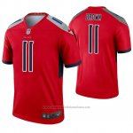 Camiseta NFL Legend Tennessee Titans 11 A.j. Marron Inverted Rojo