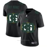 Camiseta NFL Limited Green Bay Packers Personalizada Logo Dual Overlap Negro