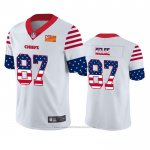 Camiseta NFL Limited Kansas City Chiefs Travis Kelce Independence Day Blanco