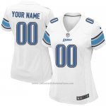 Camisetas NFL Mujer Detroit Lions Personalizada Blanco