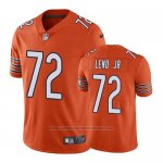 Camiseta NFL Limited Chicago Bears Charles Leno Jr. Naranja Alternate Vapor Untouchable