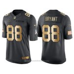 Camiseta Dallas Cowboys Bryant Negro 2016 Nike Gold Anthracite Salute To Service NFL Hombre