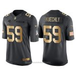 Camiseta Carolina Panthers Kuechly Negro 2016 Nike Gold Anthracite Salute To Service NFL Hombre