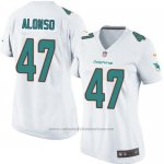 Camiseta Miami Dolphins Alonso Blanco Nike Game NFL Mujer