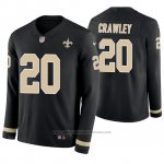 Camiseta NFL Hombre New Orleans Saints Ken Crawley Negro Therma Manga Larga