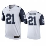 Camiseta NFL Legend Dallas Cowboys Men Ezekiel Elliott Blanco Color Rush